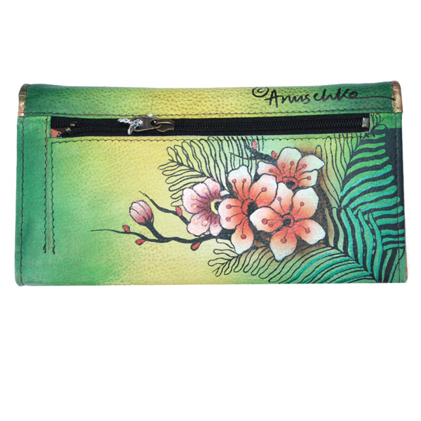 Anuschka 1095 Wallet,Pasionate Peacocks,One Size