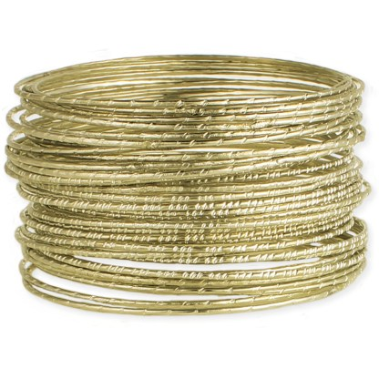 Silver Fever® Set of 42 Thin Bangles
