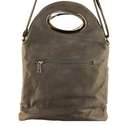 Flip Handle Mushroom Layered Strands Crossbody Messenger Bag