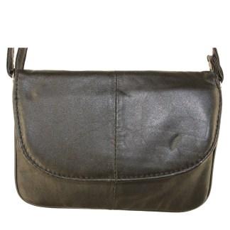 Small Speedy Soft Genuine Leather Black Flap Shoulder Handbag Purse
