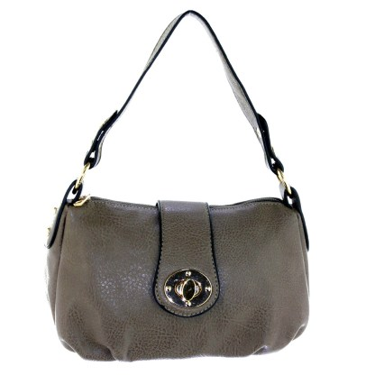 Silver Fever® Speedy to Crossbody Versatile Mini Satchel Handbag Dark Gray