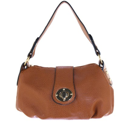 Silver Fever® Speedy to Crossbody Versatile Mini Satchel Handbag Camel Brown
