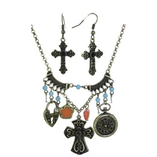 Silver Fever® Cross My Heart Set Gold Multi