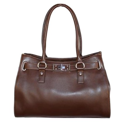 Business Brown TOSCA Tote Handbag Italy Turn Lock Belted Kelly Shoulder Fit