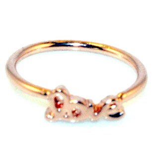 Midi Baby or Toe Ring Above The Knuckle Top Of Finger Rose Gold Love Sz 3-4