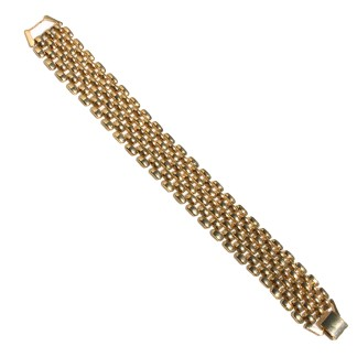 Classic Elegance Omega Chain Flexible Bracelet High Polished Gold Finish