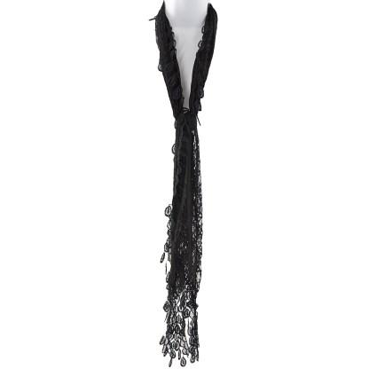 Silver Fever Elegant Vintage Skinny Lace Scarf