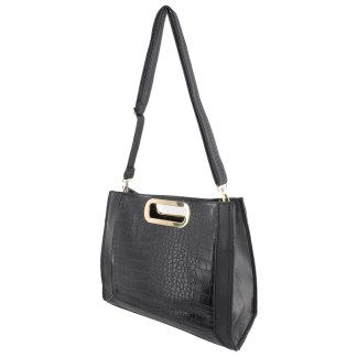 Silver Fever® Classic Cluch Shoulder Cross Body Bag Handbag Black