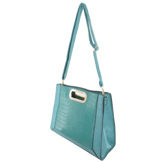Silver Fever® Classic Cluch Shoulder Cross Body Bag Handbag Teal