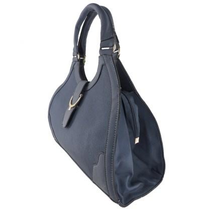 Silver Fever® Classic Satchel Gold Detail HandbagBlue