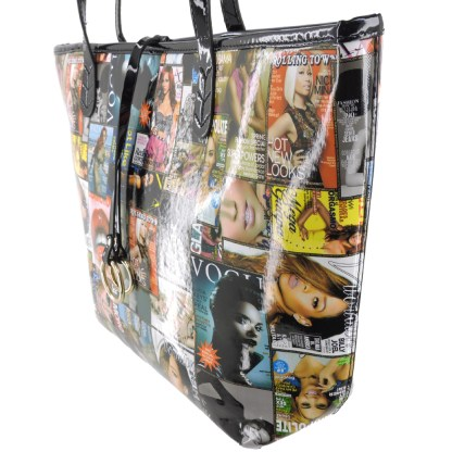 Silver Fever® Novelty Print Fashion Tote Multicolor & Black
