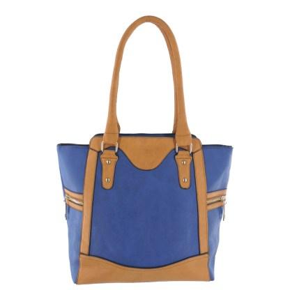 Silver Fever® Business Tote Zipside Handbag Blue Camel