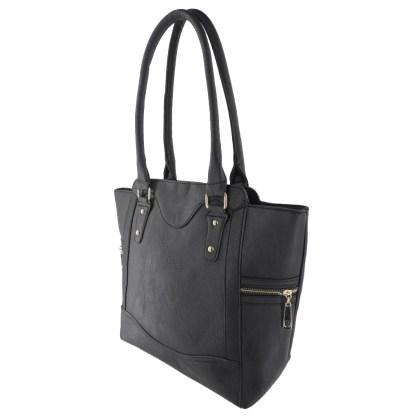 Silver Fever® Business Tote Zipside Handbag Black