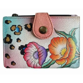 Anna by Anuschka Ladies Wallet 2 Fold Small Animal Floral