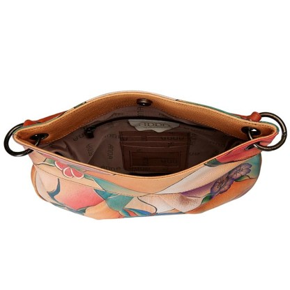 Anna by Anuschka Hobo Hanbdag Convertible Butterfly Glass Painting