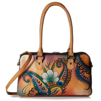 Anna by Anuschka Satchel Hanbdag Multi Compartment Floral Paisley