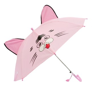 Fashionista Kids Animal Umbrella Sun Rain Protection Windproof Pink Cat