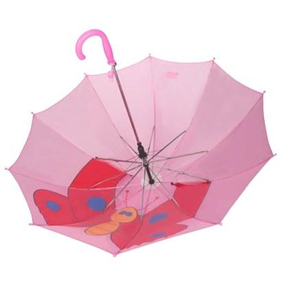 Fashionista Kids Animal Umbrella Sun Rain Protection Windproof Pink Butterfly