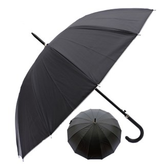 "Rain or Sun UV Protection Umbrella Silver Fever ® 42 ""D Canopy Coverage Windproof Black w Sliver"