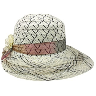 Silver Fever ® Women Summer Fancy Sun Hat Fits All White Mix