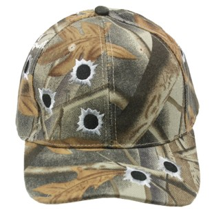 Silver Fever® Classic Baseball Hat 100% Adjustable Unisex Trucker Cap - Made to Last  Camouflage w Bullet Wholes