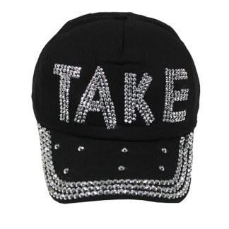 Silver Fever® Classic Baseball Hat 100% Adjustable Unisex Trucker Cap - Made to Last  Take Rhinestones Black