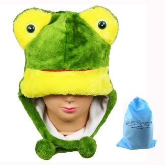 Silver Fever® Plush Soft Animal Beanie Ski Hat  Frog