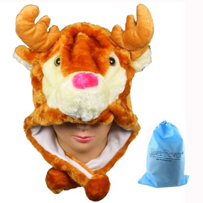 Silver Fever® Plush Soft Animal Beanie Ski Hat Elk
