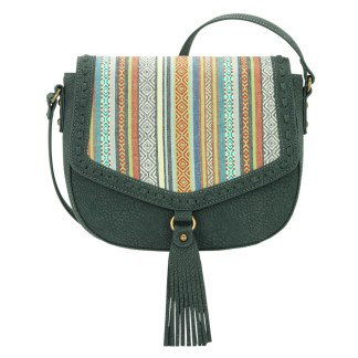 American West Bandana Crossbody Shoulder Purse  Pine Rainbow