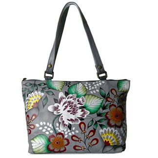 Anna By Anuschka Satchel Handbag Medium Garden Of Eden