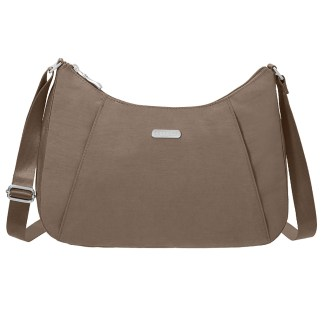 Baggallini Slim Crossbody Hobo Handbag with RFID Portobello