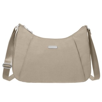 Baggallini Slim Crossbody Hobo Handbag with RFID Beach