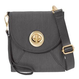 Baggallini Athens Cross Body - RFID Wallet Handbag -Travel Companion -  Charcoal