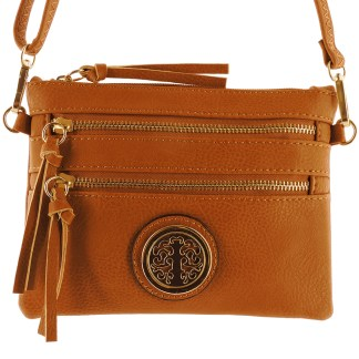 Silver Fever Fashion Crossbody Hipster Mini Indie Handbag Camel