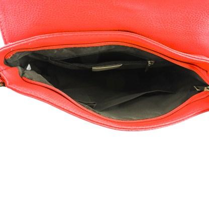 Silver Fever Fashion Crossbody Hipster Tote Indie Designed Handbag RED Tassle