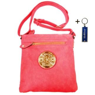 Silver Fever Fashion Crossbody Hipster Tote Indie Designed Handbag BlushPink 3 Comp