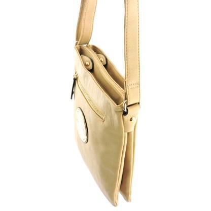 Silver Fever Fashion Crossbody Hipster Tote Indie Designed Handbag Beige 3 Comp