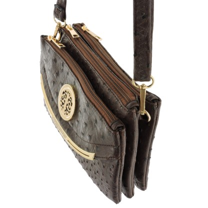 Silver Fever Crossbody Hipster Mini Indie Handbag Coffee Ostrige
