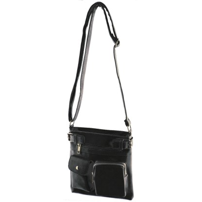 Silver Fever Fashion Crossbody Hipster Tote Indie Designed Handbag Black  3 Pck