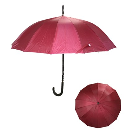 "Rain or  Sun UV Protection Umbrella Silver Fever ® 42 ""CanopyCoverageWindproof Burgundy"