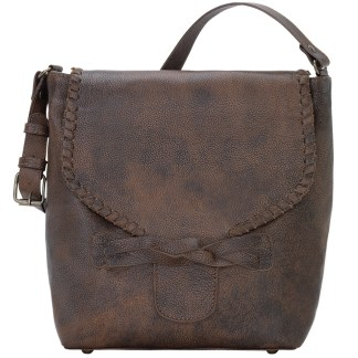 TrueLu American West Shoulder Bag, Claire Bucket Walnut