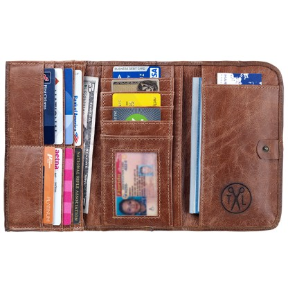TrueLu American West Wallet, Harlow Chestnut Clay
