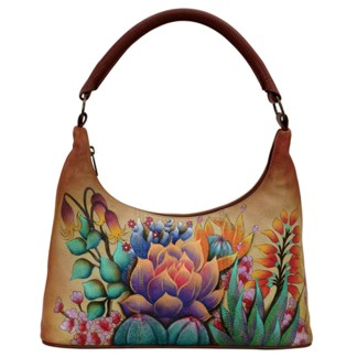 Anuschka Leather Small Hobo Bag Desert Sunset