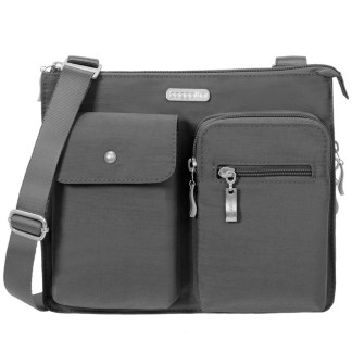 Baggallini Everything Bag Accordion Crossbody Purse Charcoal