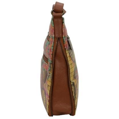 Anushcka Medium Cross Body Bag Handpainted Leather Vintage Bike