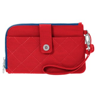 Baggallini Travel RFID Passport & Phone Wristlet Red/Navy