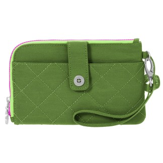 Baggallini Travel RFID Passport & Phone Wristlet Green/Kiwi