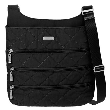 Baggallini Classic Big Zipper Bag Black Quilt