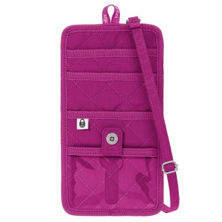 Baggallini RFID Travel Organizer Crossbody Passport CC Wallet Bag Fushia/Pink