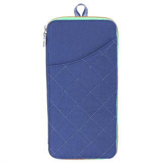 Baggallini RFD Travel Wallet Passport Size Royal Blue/Mint